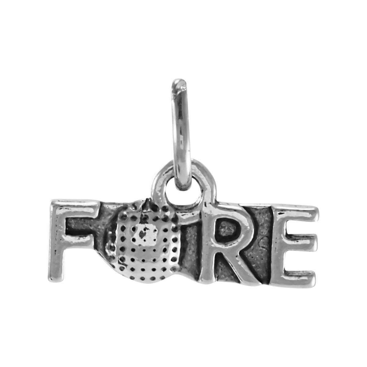 Sterling Silver Fore Golf Charm