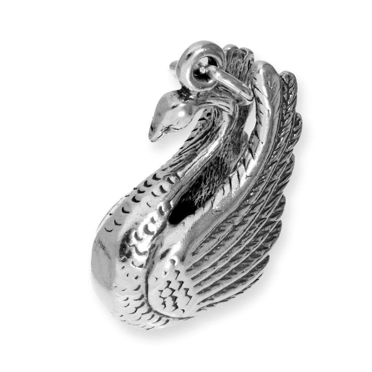 Sterling Silver Large Swan Charm