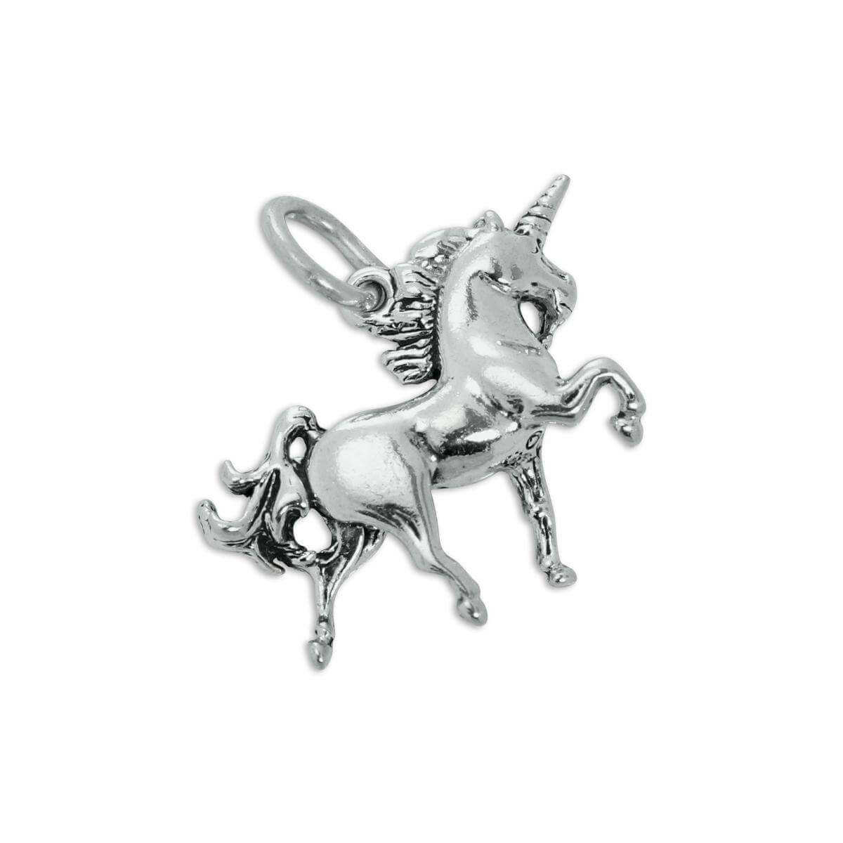 Sterling Silver 3D Unicorn Charm