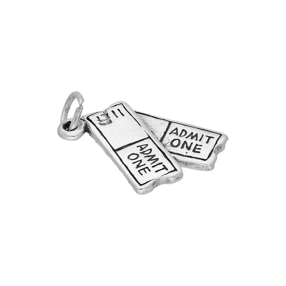 Sterling Silver Tickets Charm