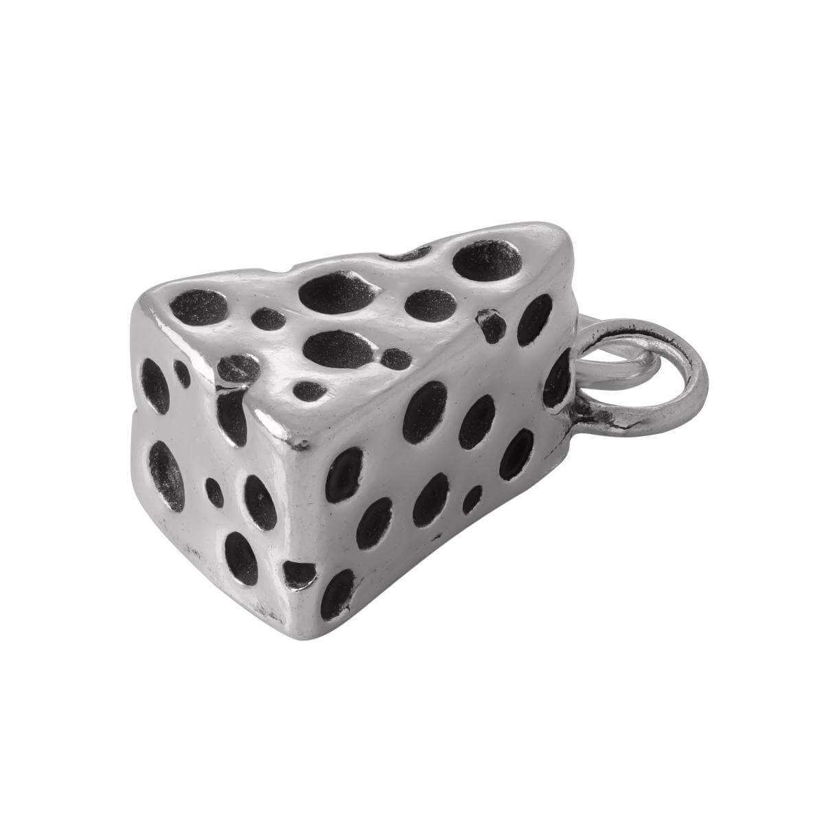 Sterling Silver Cheese Charm