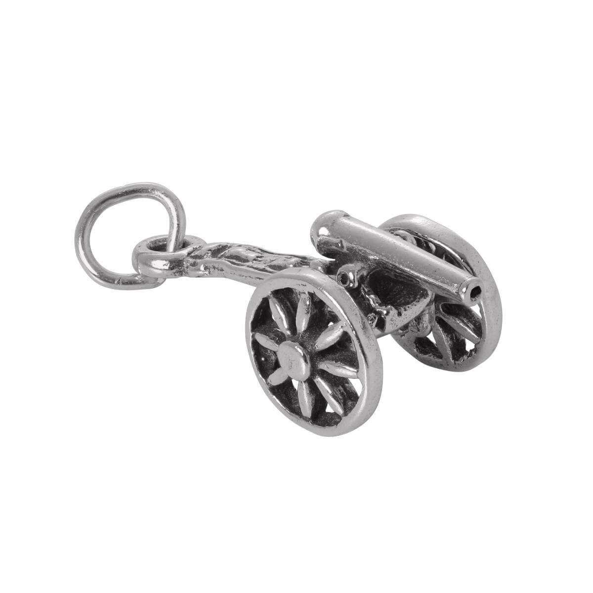 Sterling Silver Cannon Charm