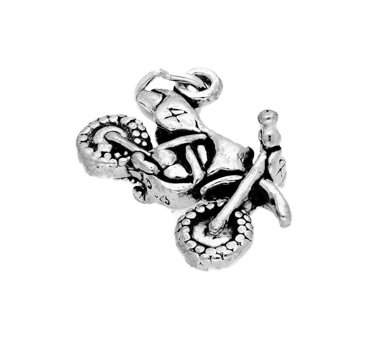 Sterling Silver Dirt Bike Charm