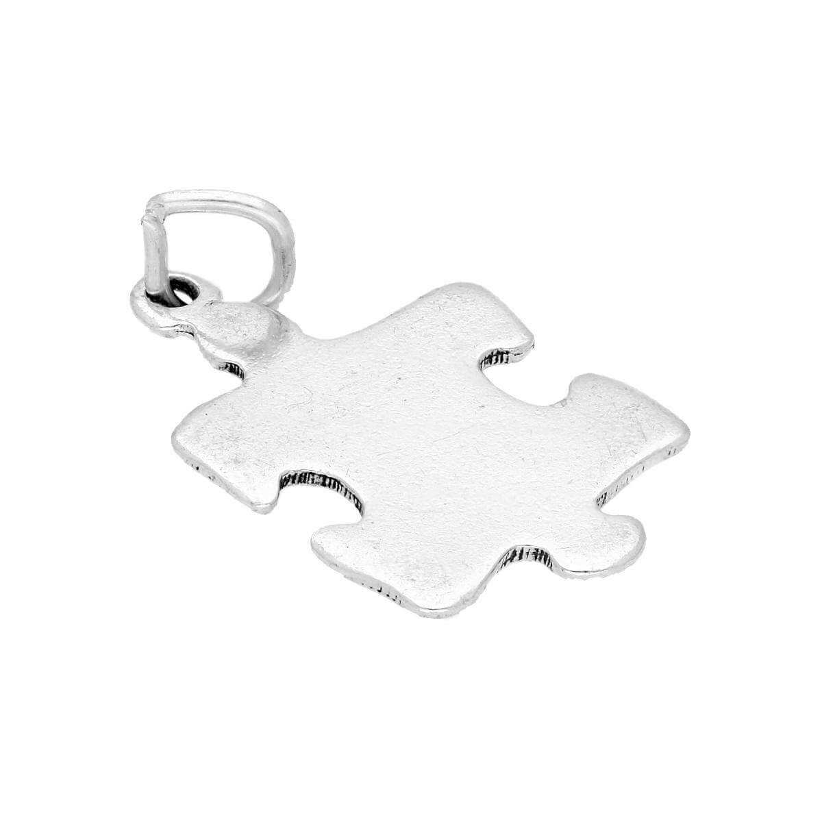 Sterling Silver Puzzle Jigsaw Piece Charm