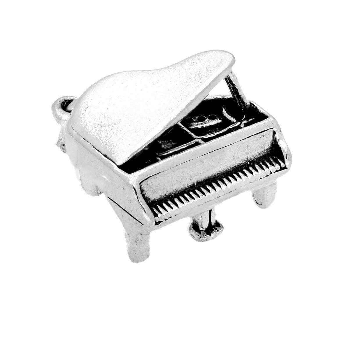 Sterling Silver Grand Piano Charm
