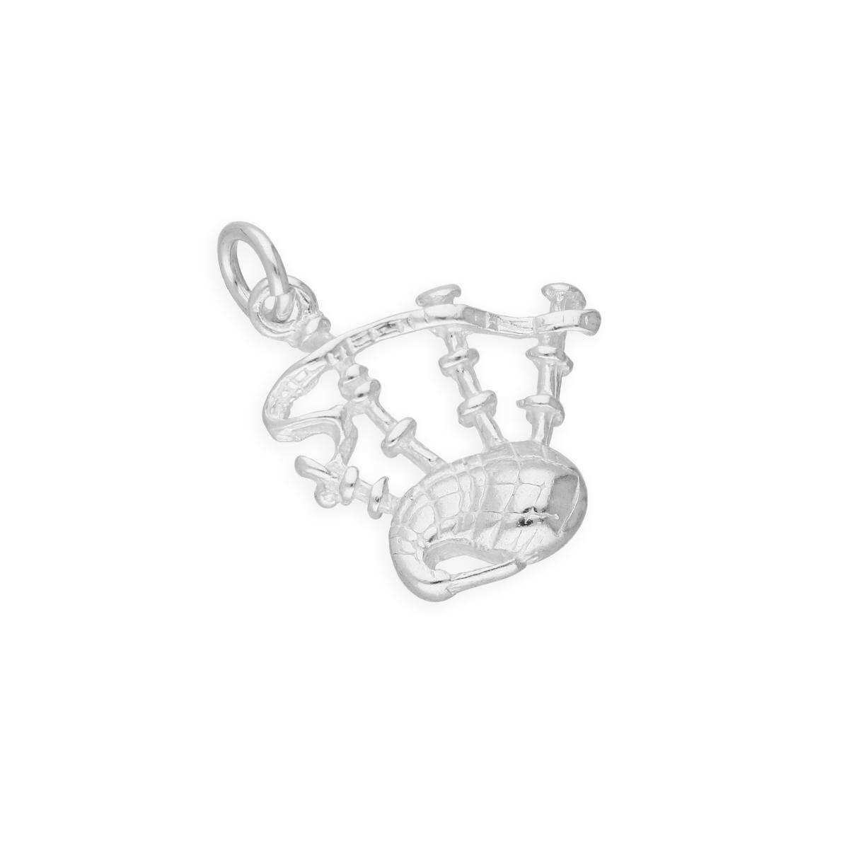 Sterling Silver Scottish Bagpipes Charm