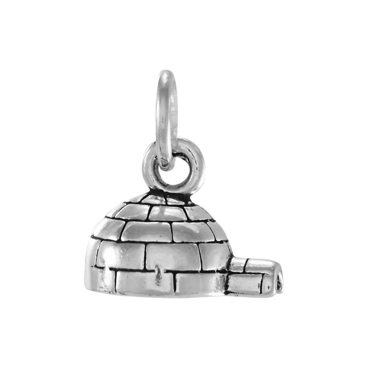 Sterling Silver Igloo Charm