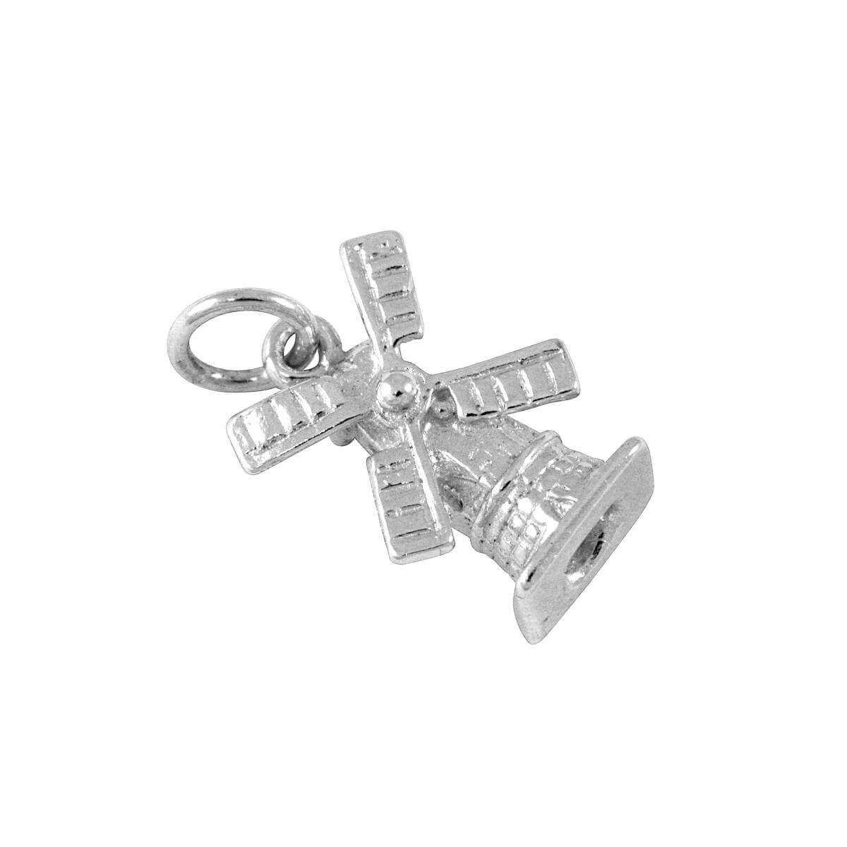 Sterling Silver Dutch Windmill Charm