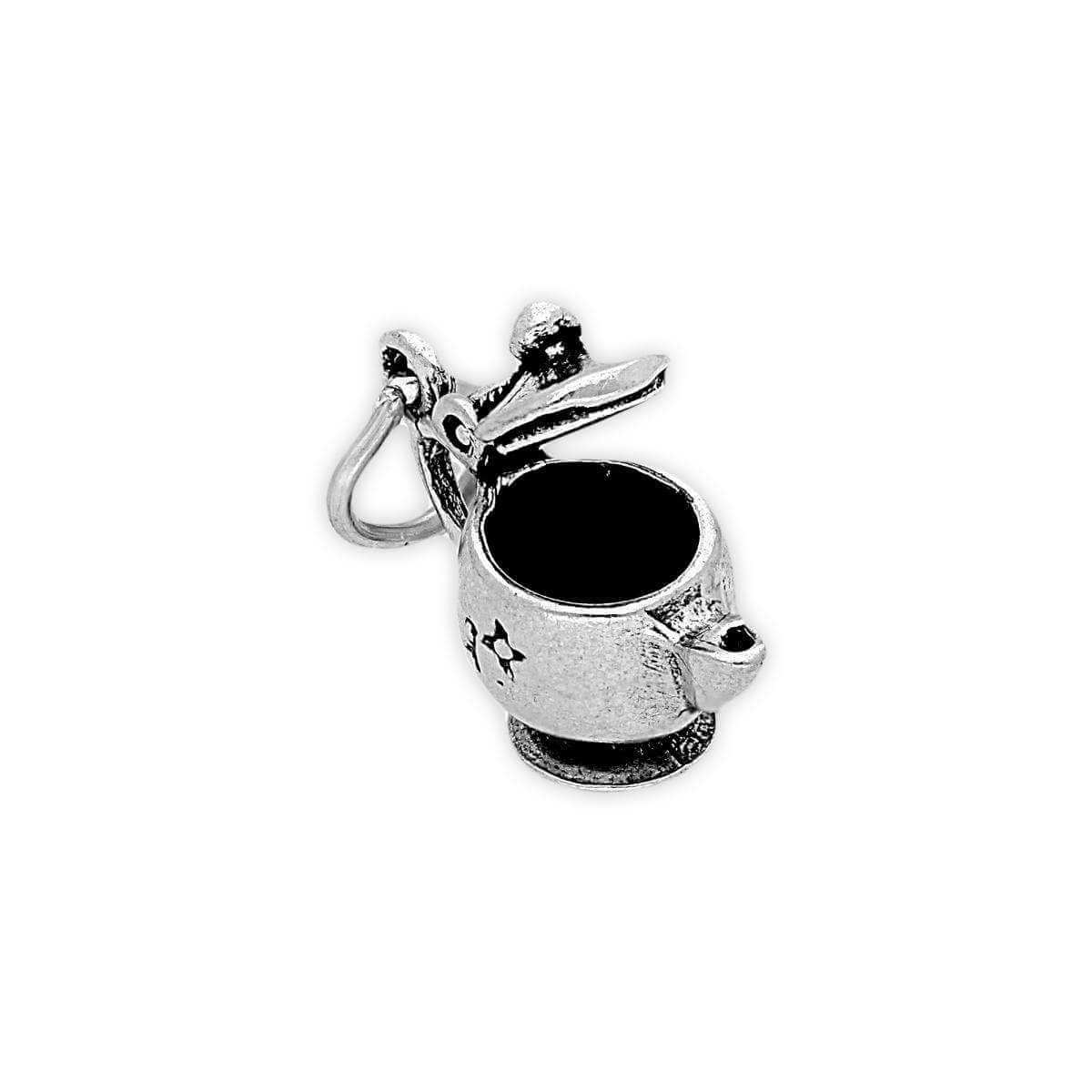 Sterling Silver Teapot with Moving Lid Charm
