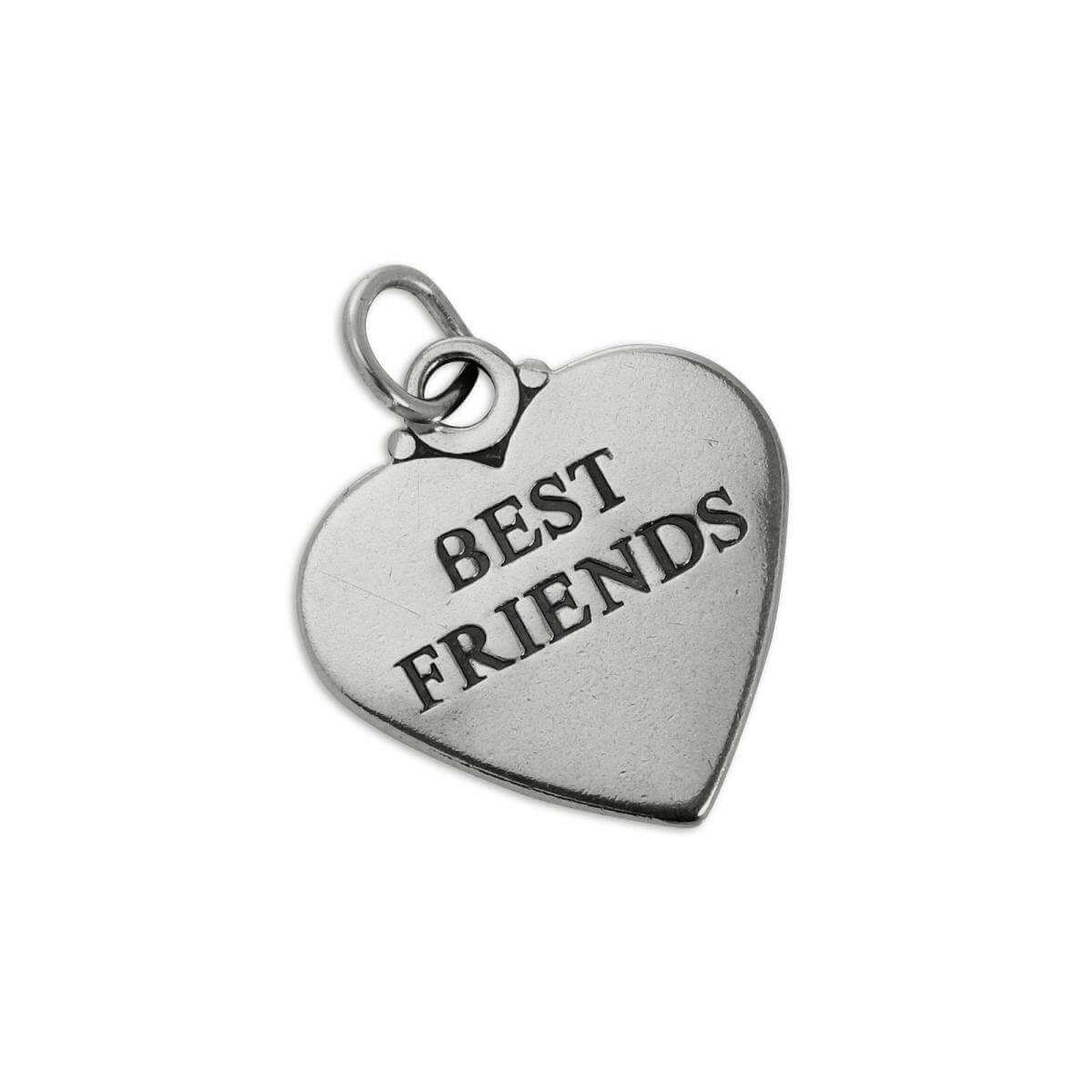 Sterling Silver Best Friends Heart Charm