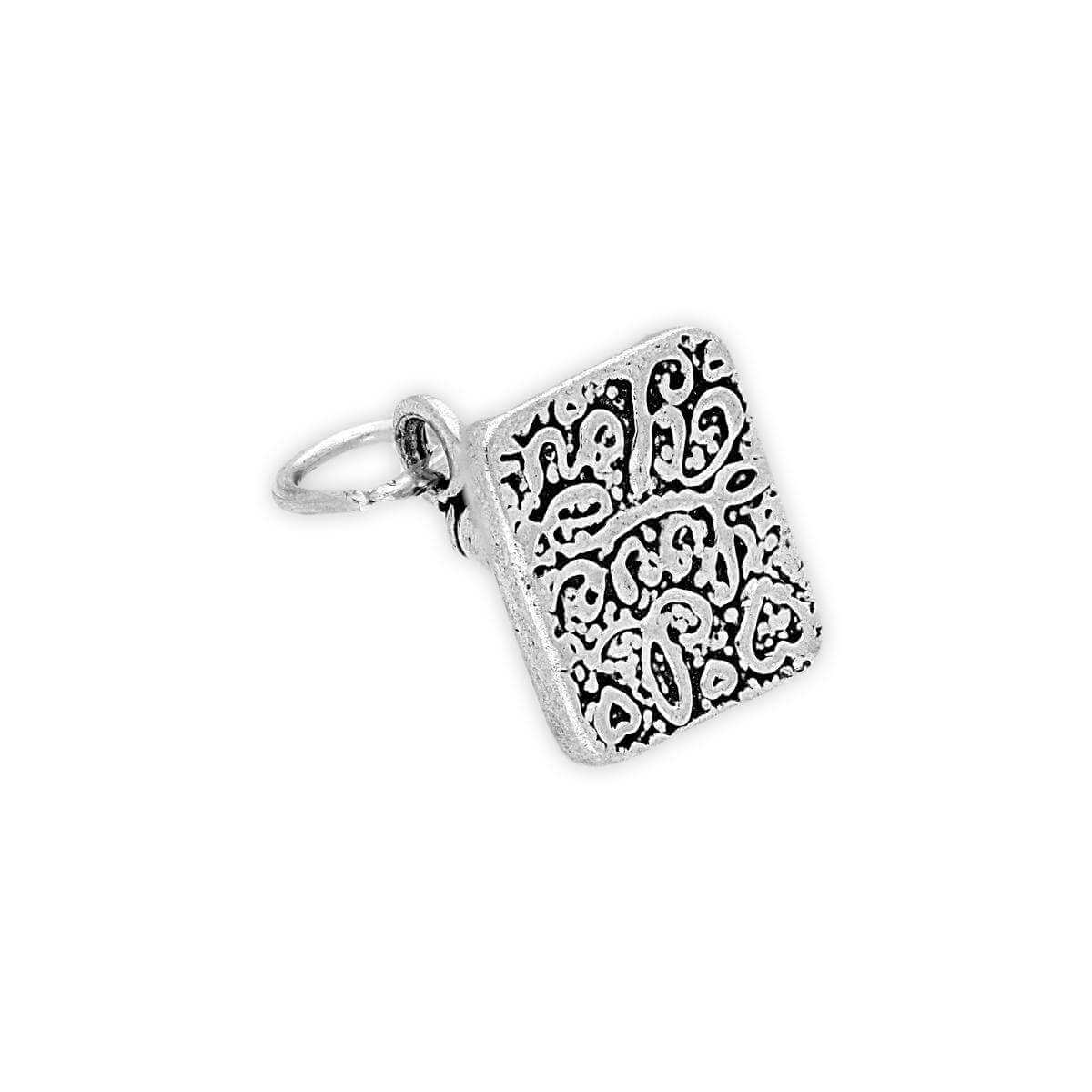Sterling Silver I Love You Stamp Charm