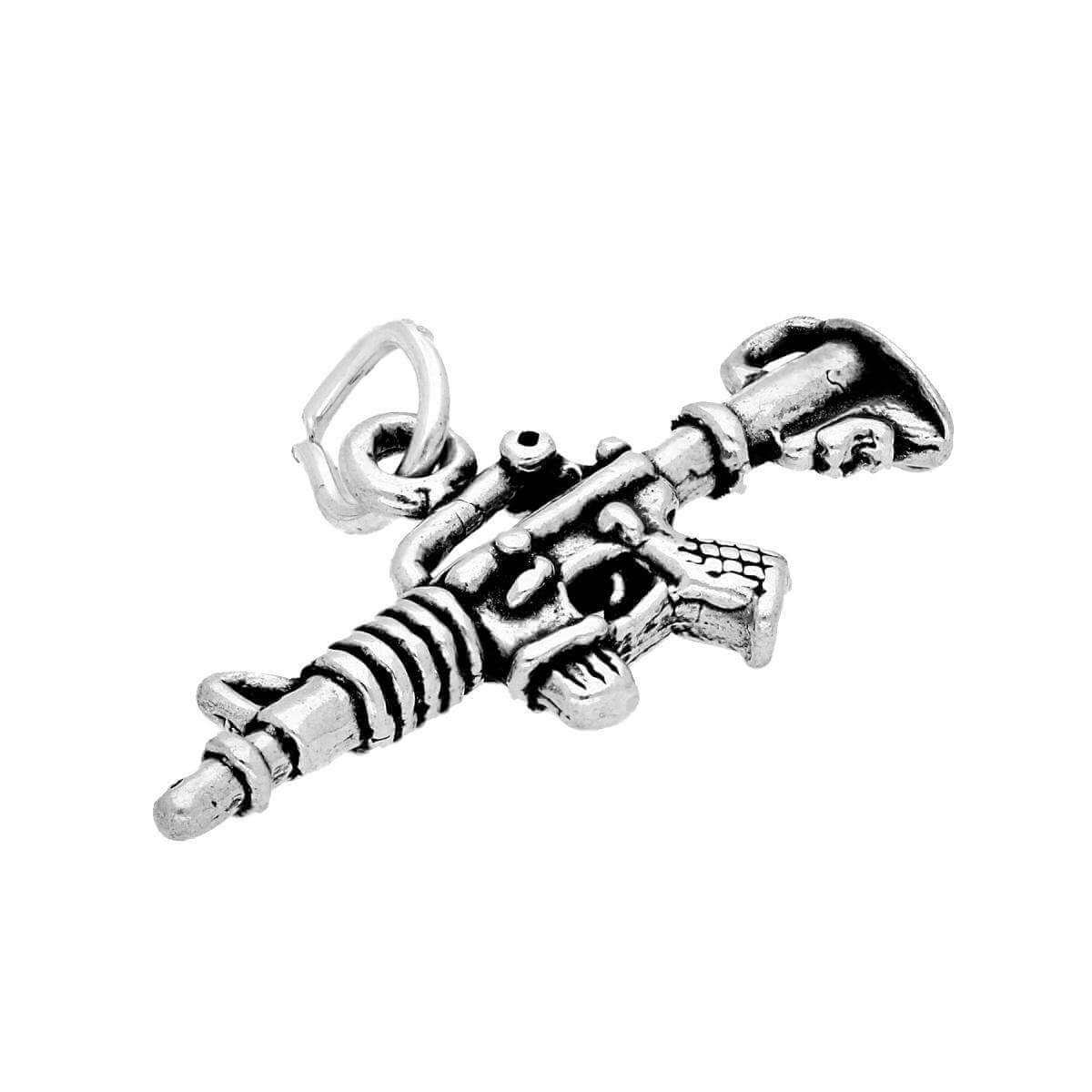 Sterling Silver Machine Gun Charm