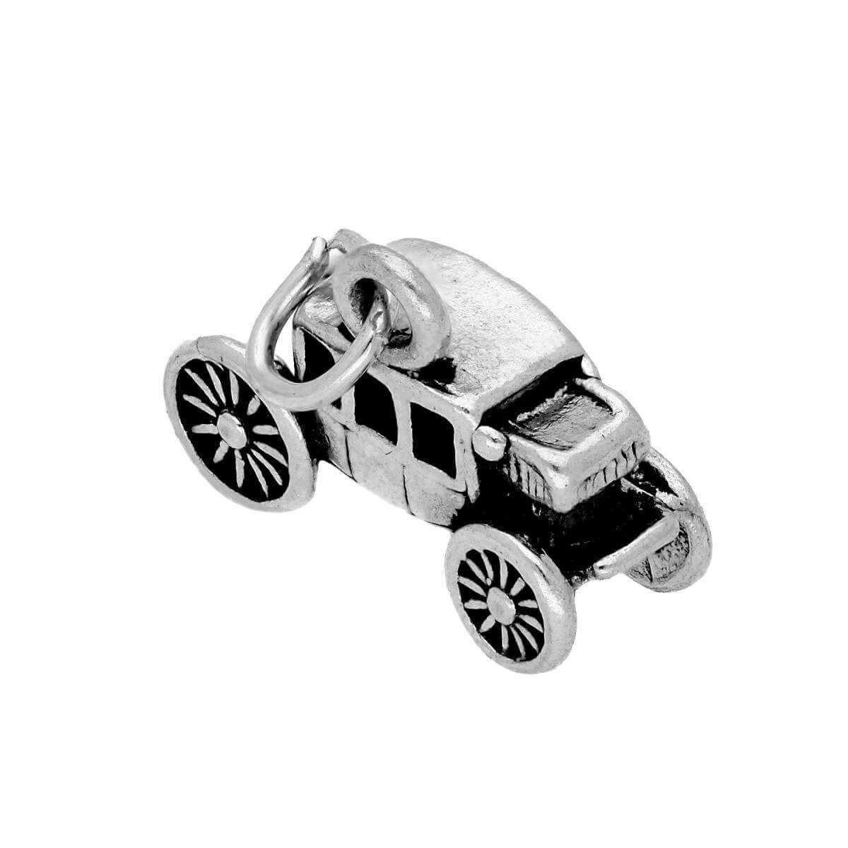 Sterling Silver Stagecoach Carriage Charm