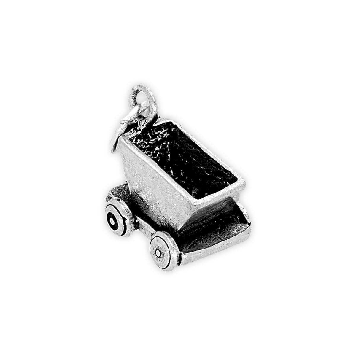 Sterling Silver Mine Train Charm