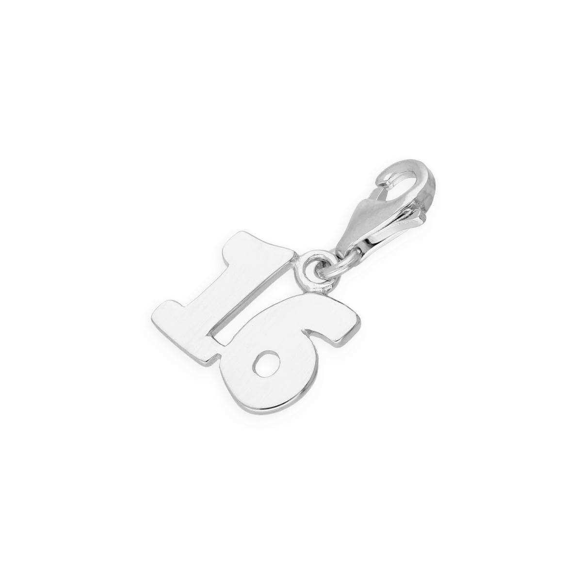 Sterling Silver 16th Birthday Clip on Charm