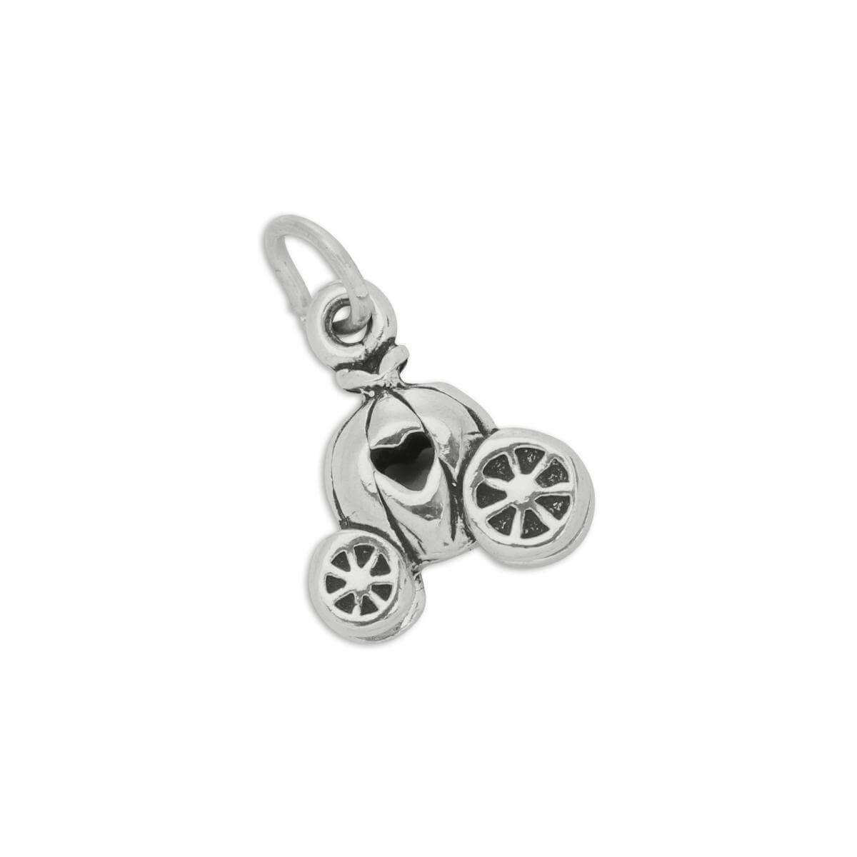 Sterling Silver Princess Pumpkin Carriage Charm