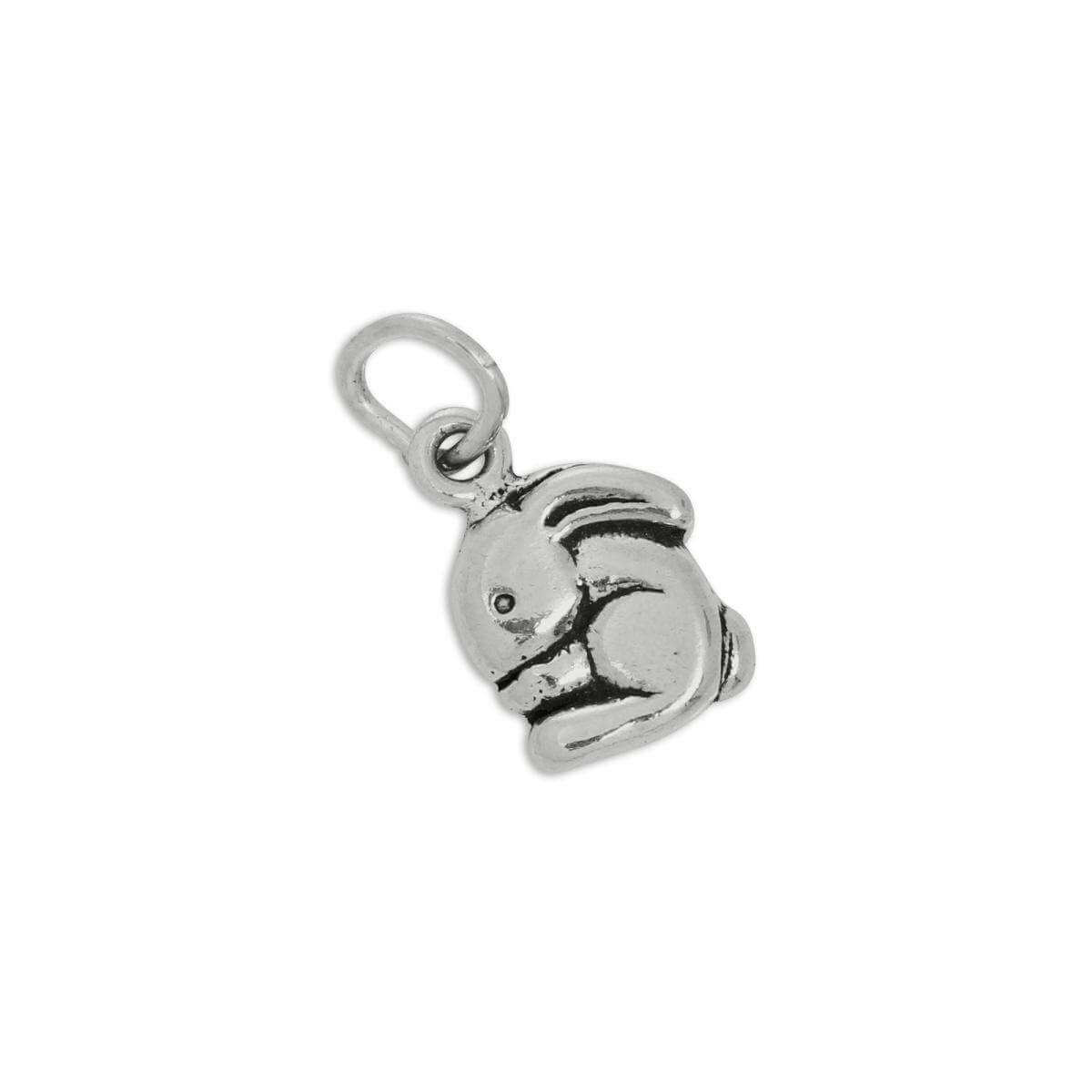 Sterling Silver Small Cartoon Bunny Rabbit Charm
