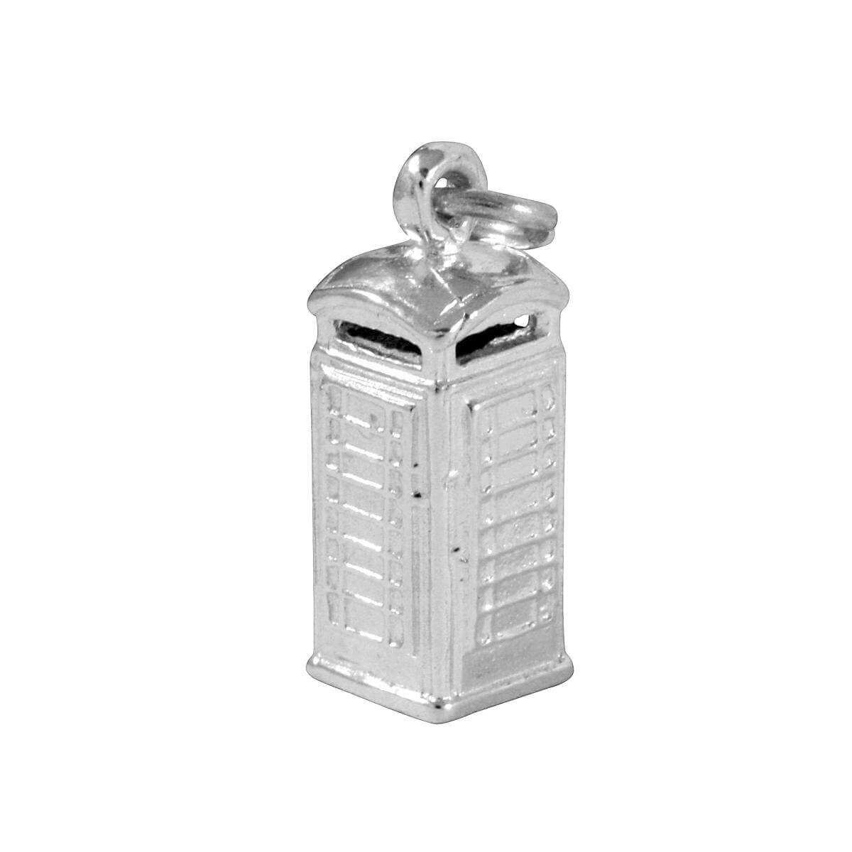 Sterling Silver Phone Box Charm