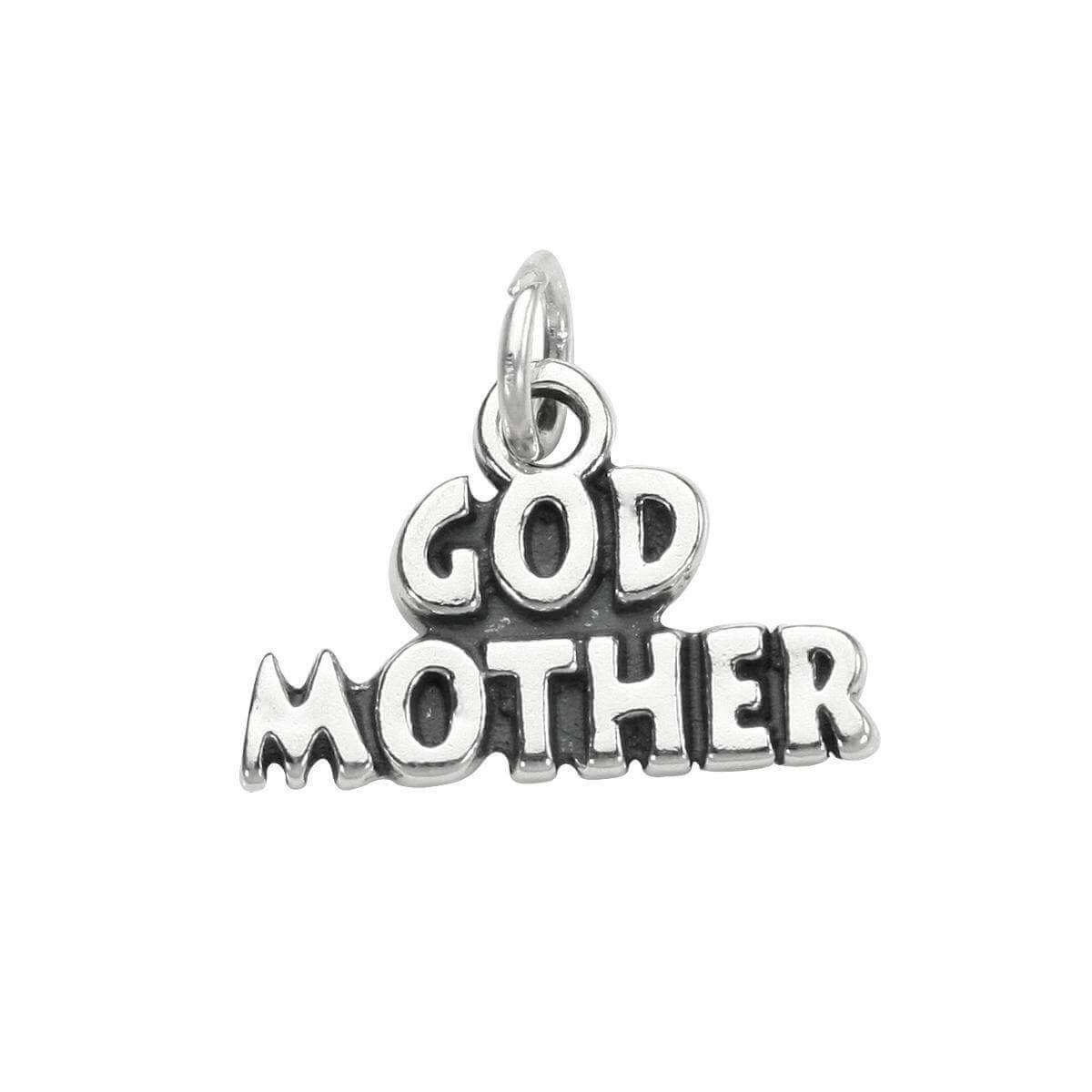 Sterling Silver God Mother Charm