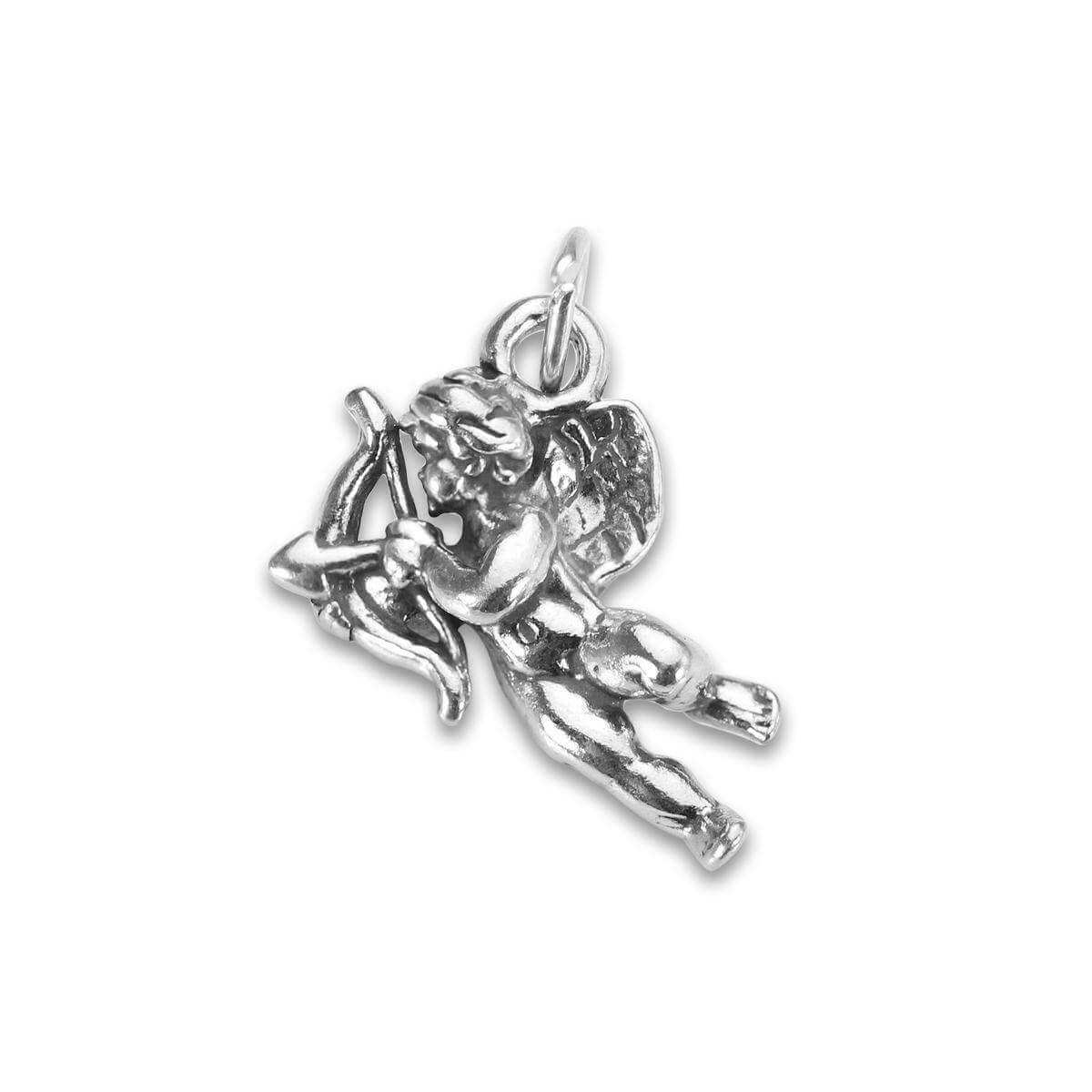 Sterling Silver Cupid Archer Charm