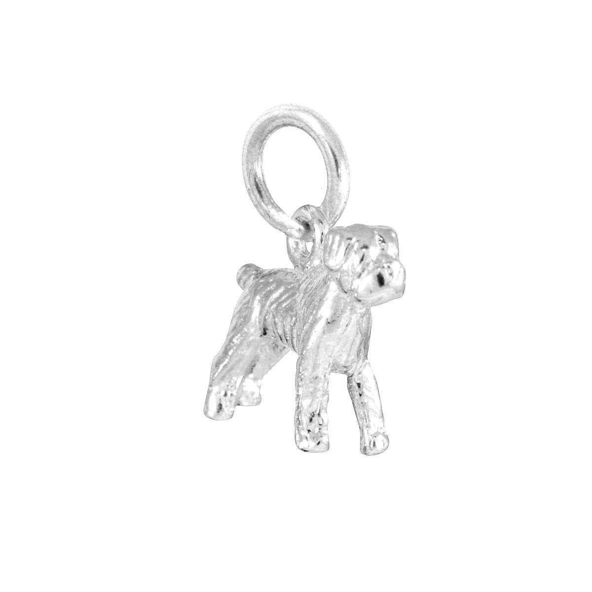 Sterling Silver Boxer Charm