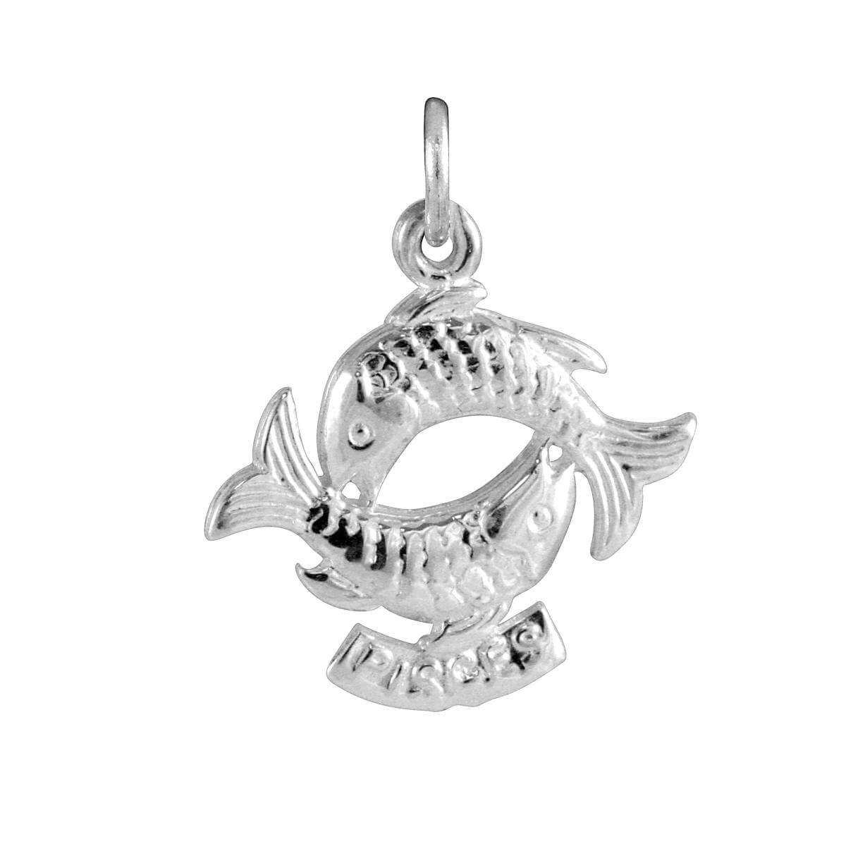 Sterling Silver Pisces Fish Charm