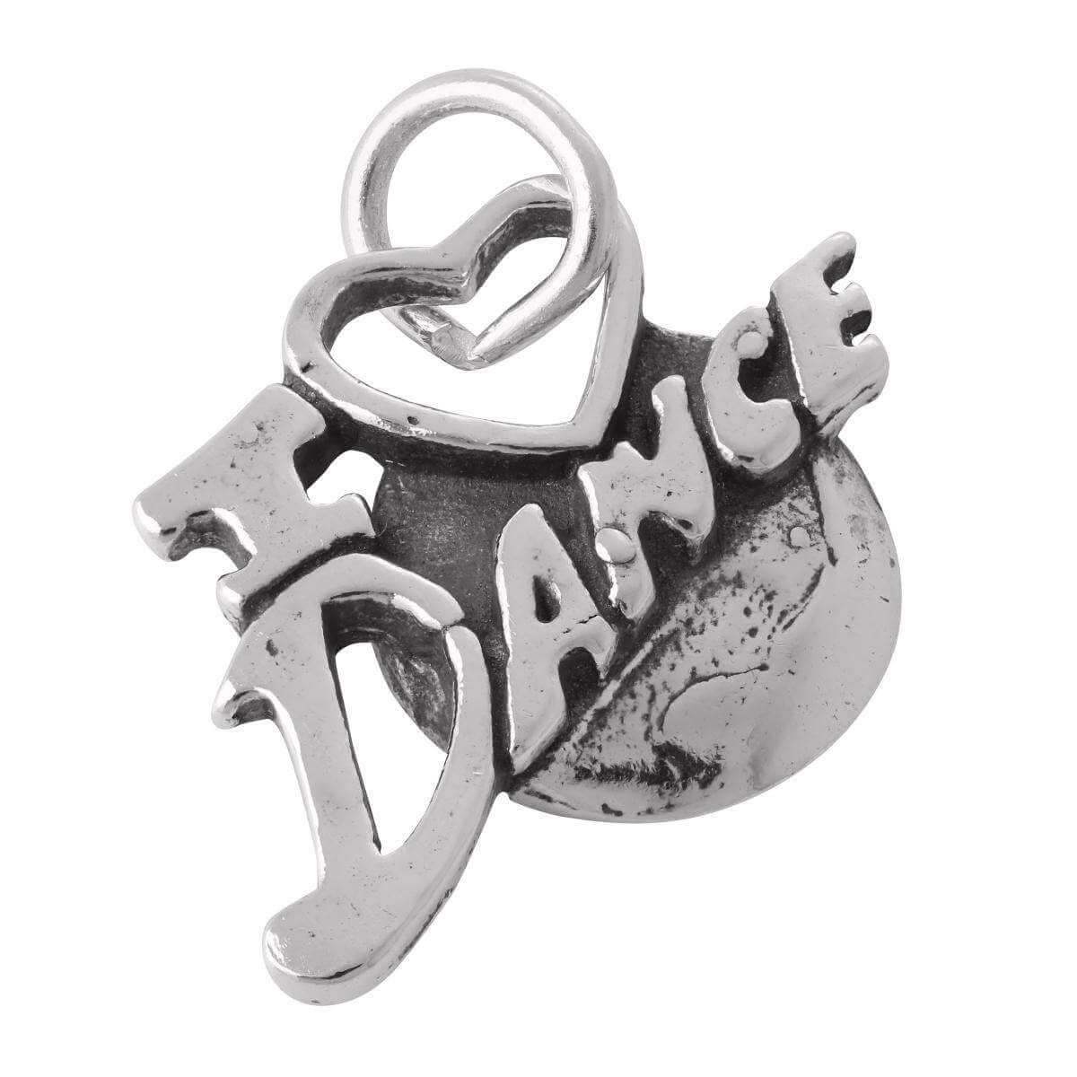 Sterling Silver I Heart to Dance Charm