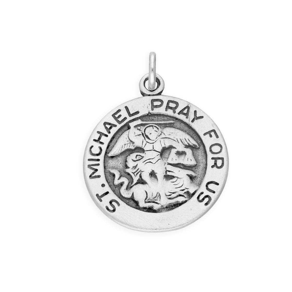 Sterling Silver St Michael Charm
