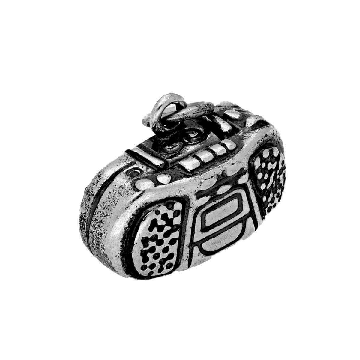Sterling Silver Boombox CD Player Charm