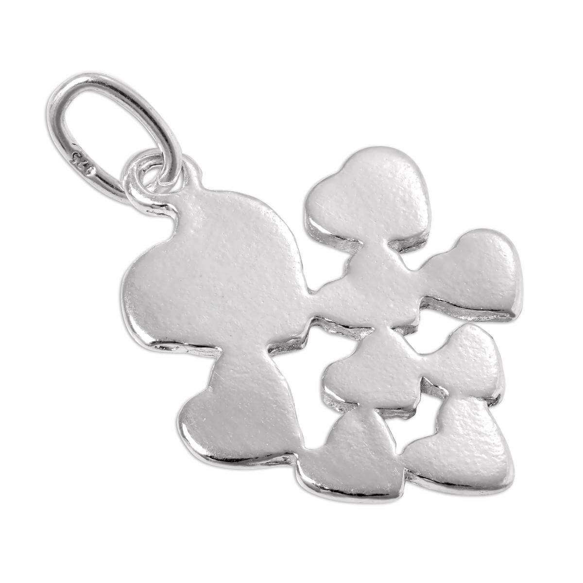 Sterling Silver Hearts Charm