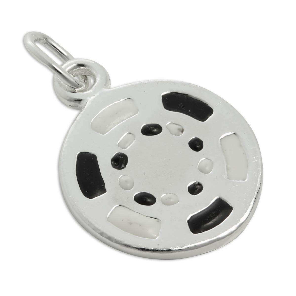 Sterling Silver & Enamel Poker Chip Charm