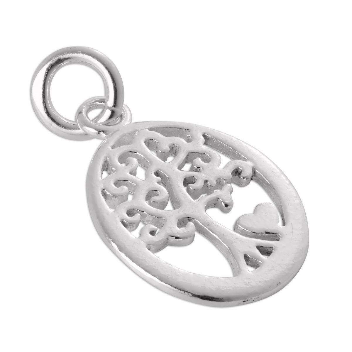 Sterling Silver Filigree Love Tree Charm