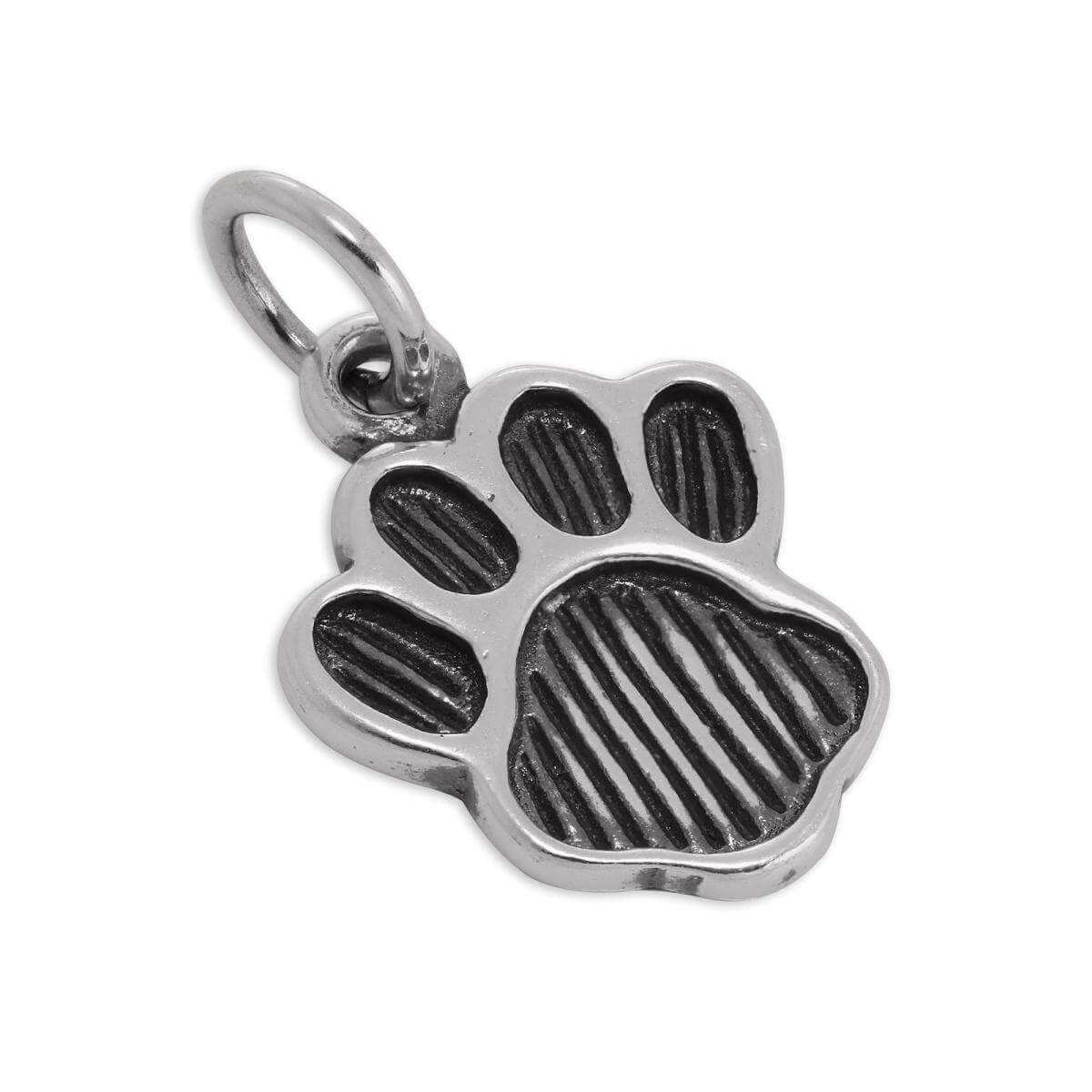 Large Sterling Silver Animal Paw Print Charm