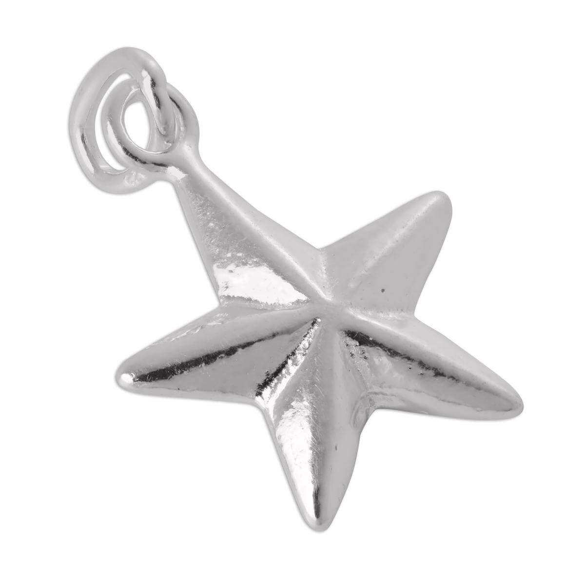 Sterling Silver Christmas Star Charm