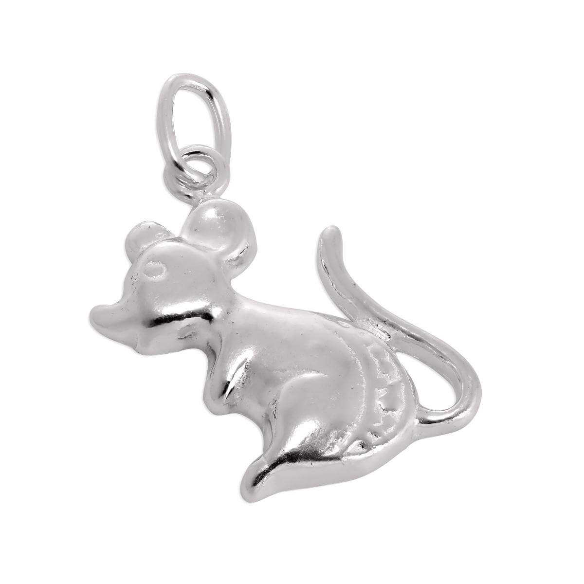 Sterling Silver Mouse Charm