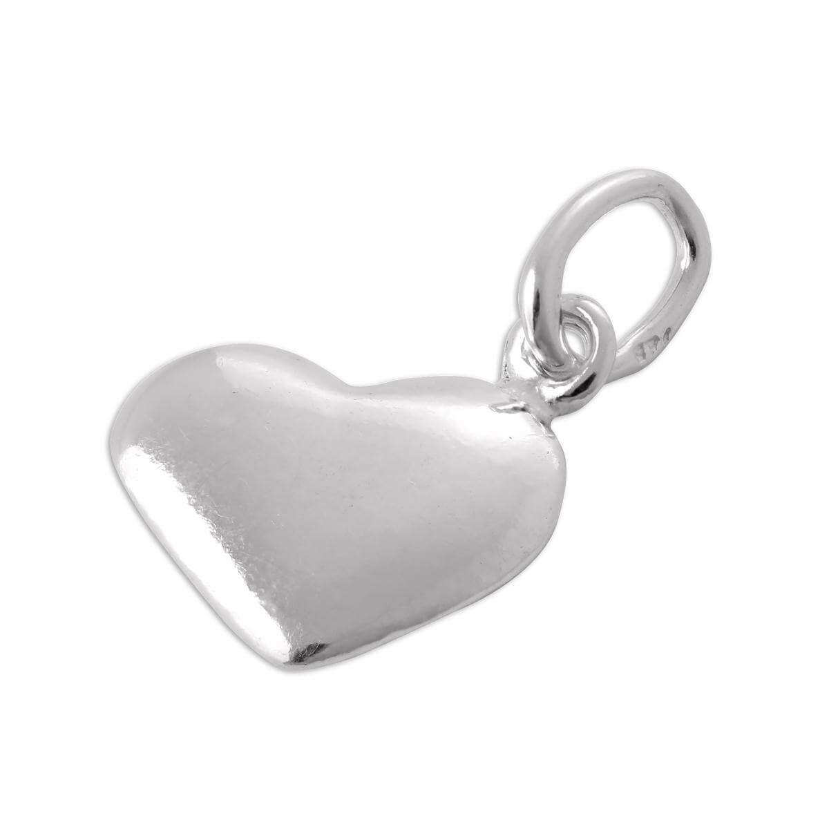 Polished Sterling Silver Puffed Heart Charm