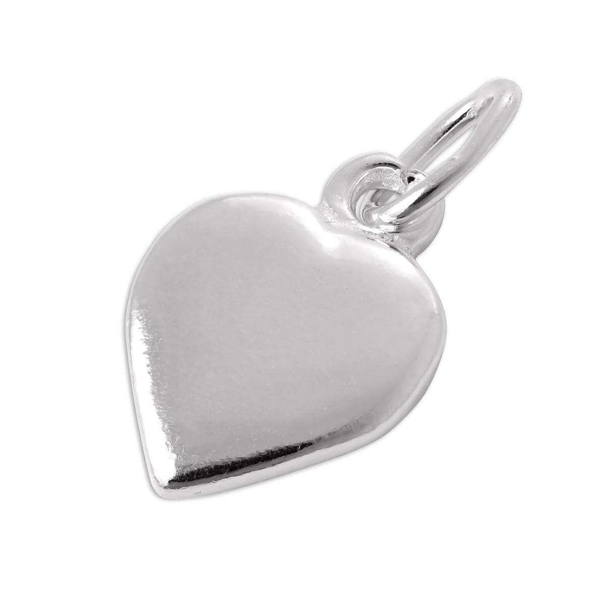 Sterling Silver Flat Heart Charm