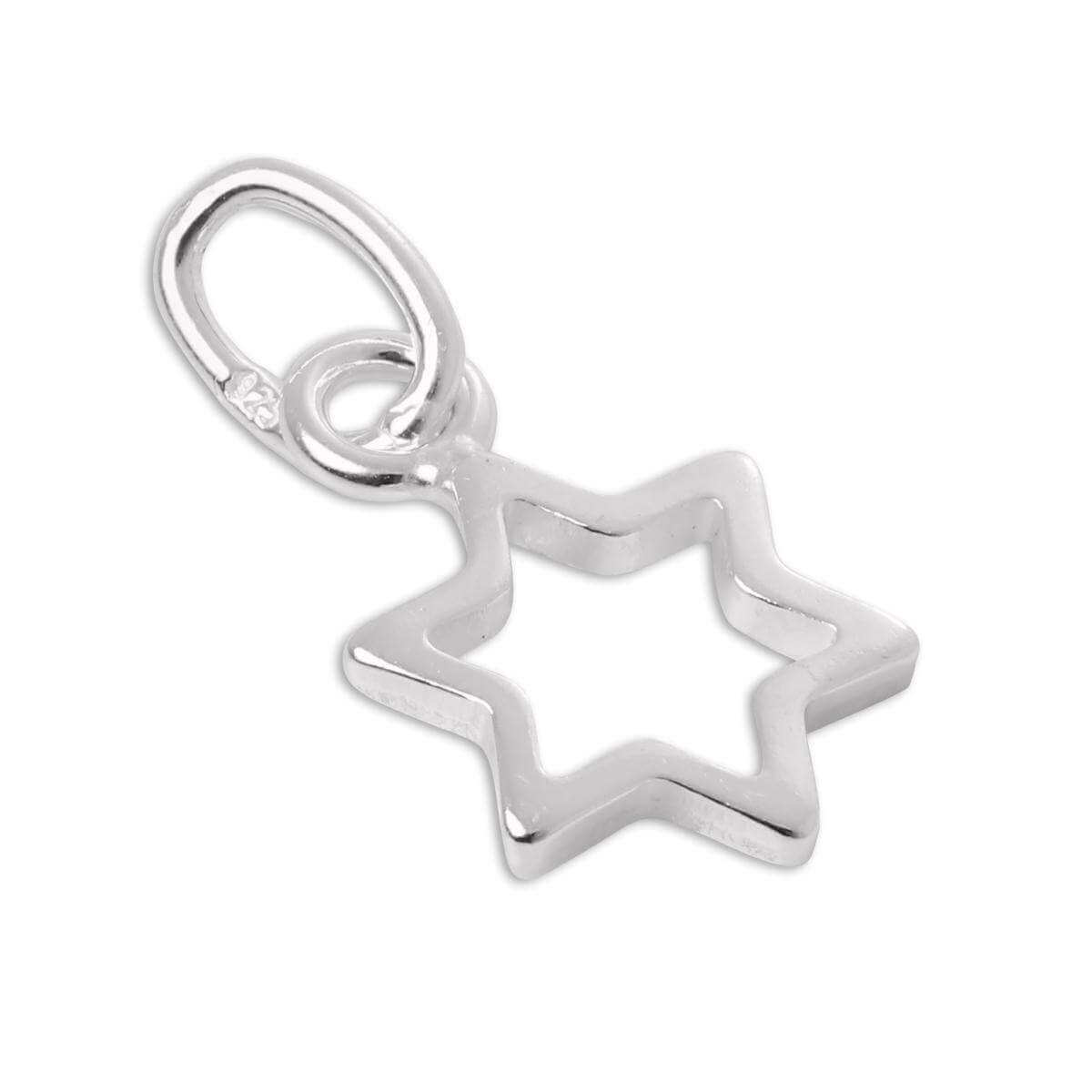 Tiny Sterling Silver Outline Star Charm