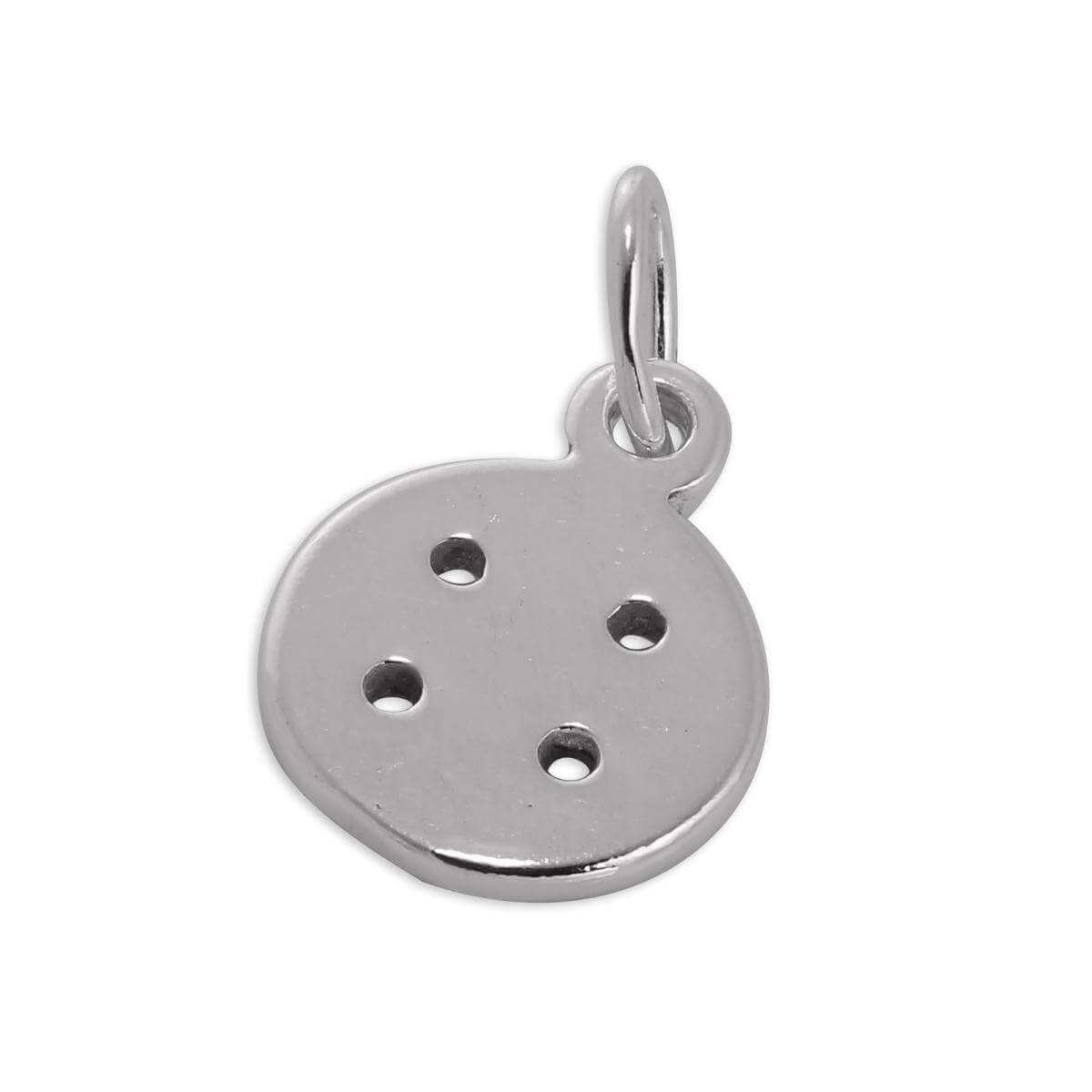 Small Sterling Silver Button Charm