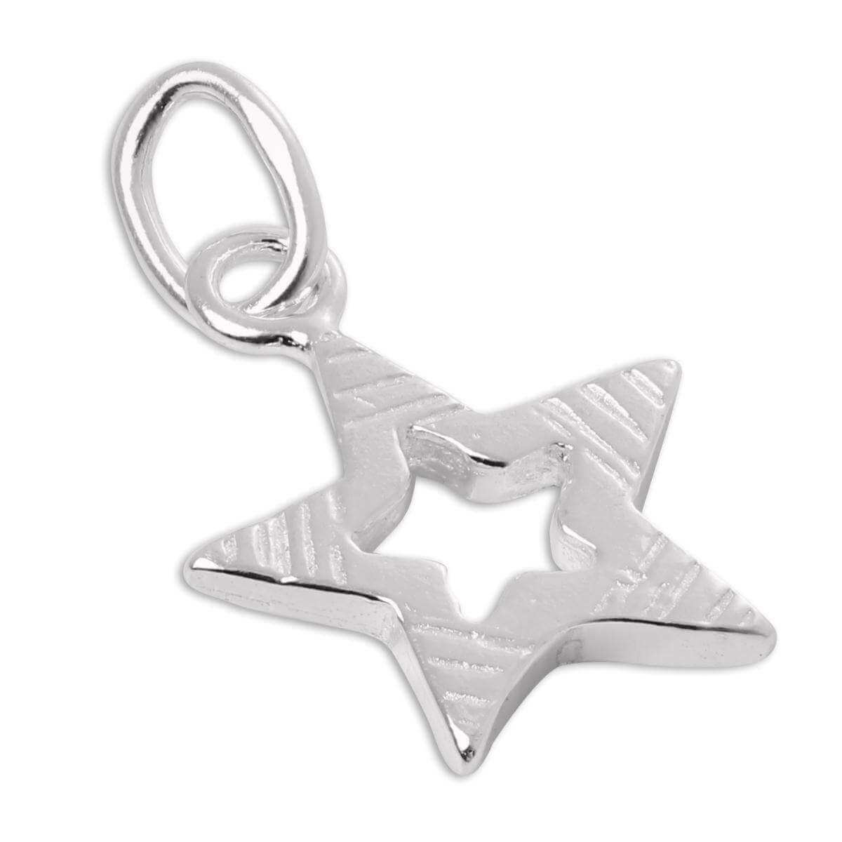 Small Sterling Silver Cut Out Star Charm
