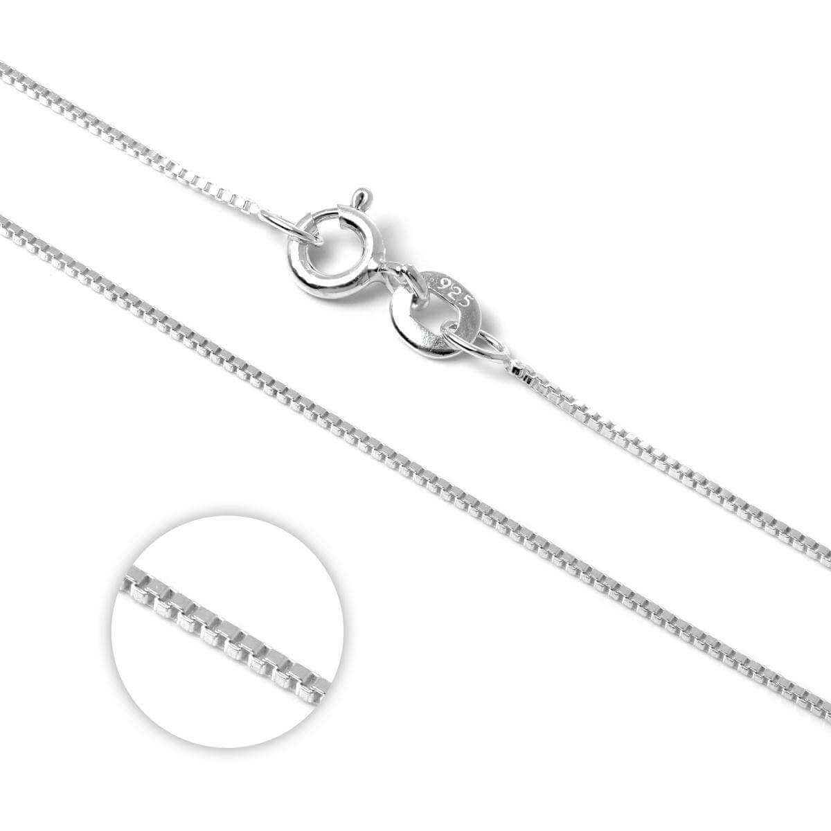 Sterling Silver Box Chain 14 - 22 Inches