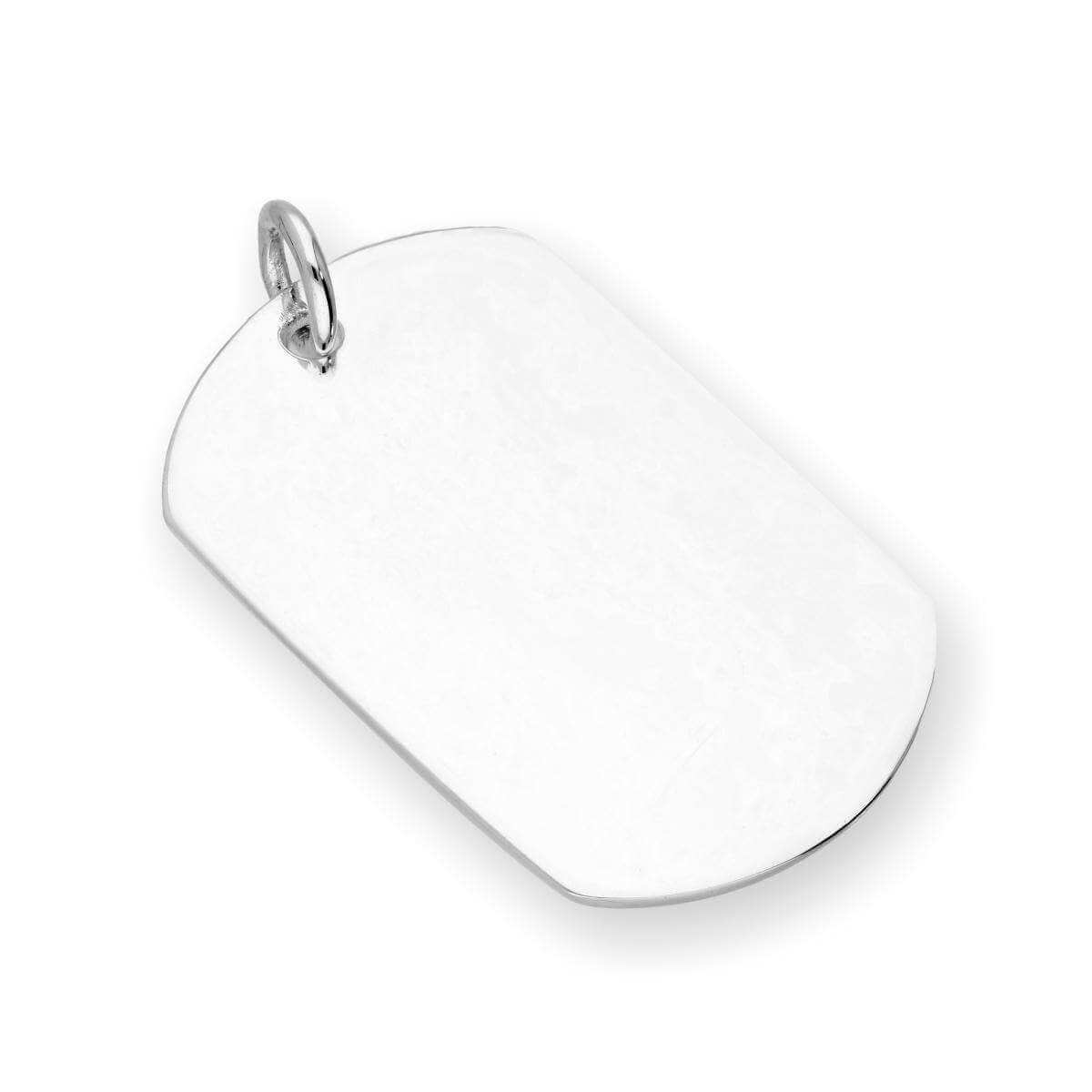 Sterling Silver Large Dog Tag Charm