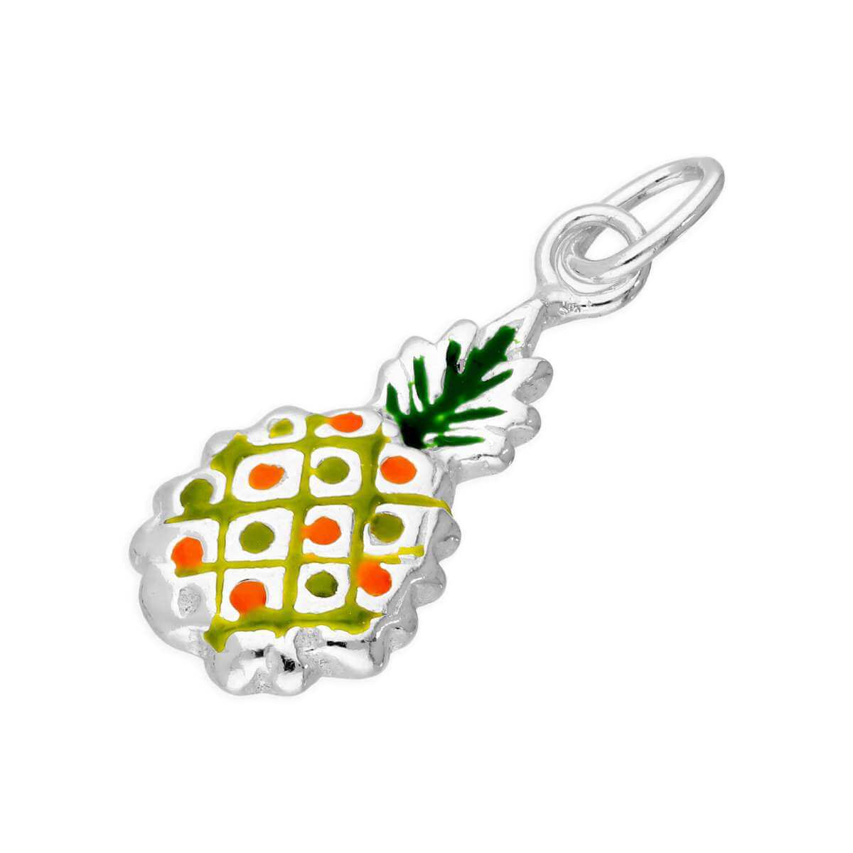 Sterling Silver & Colourful Enamel Pineapple Charm