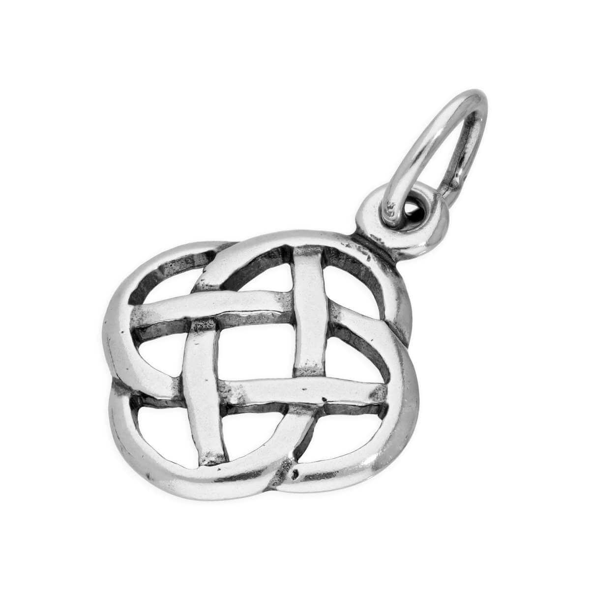Sterling Silver Round Celtic Knot Charm