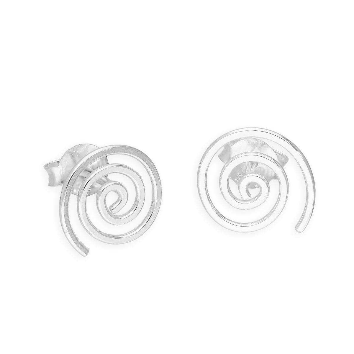 Sterling Silver Wirework Spiral Stud Earrings