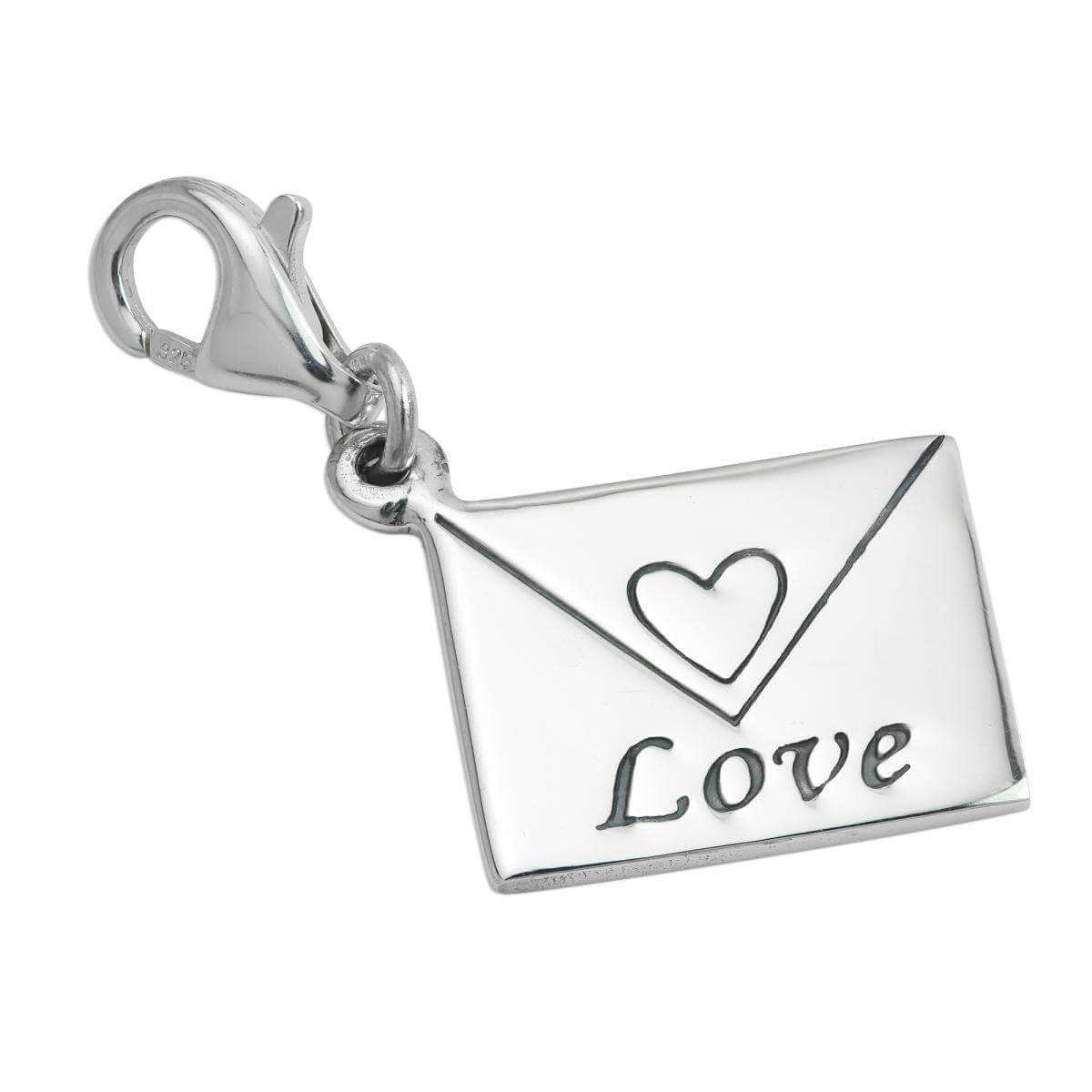 Sterling Silver Love Letter Clip on Charm