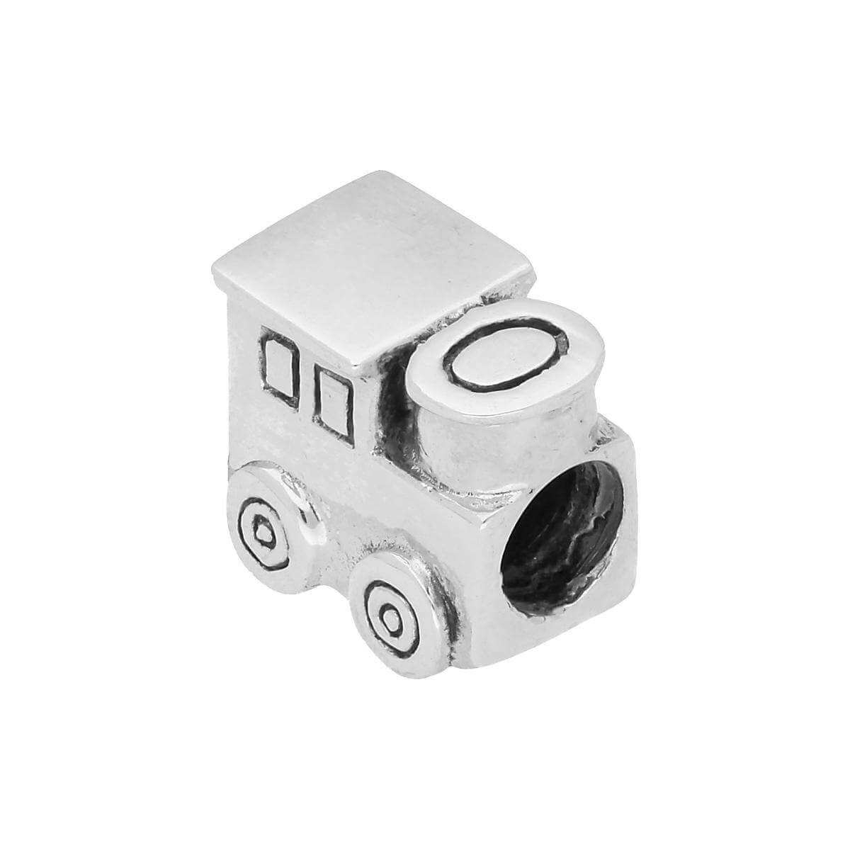 Sterling Silver Train Bead Charm