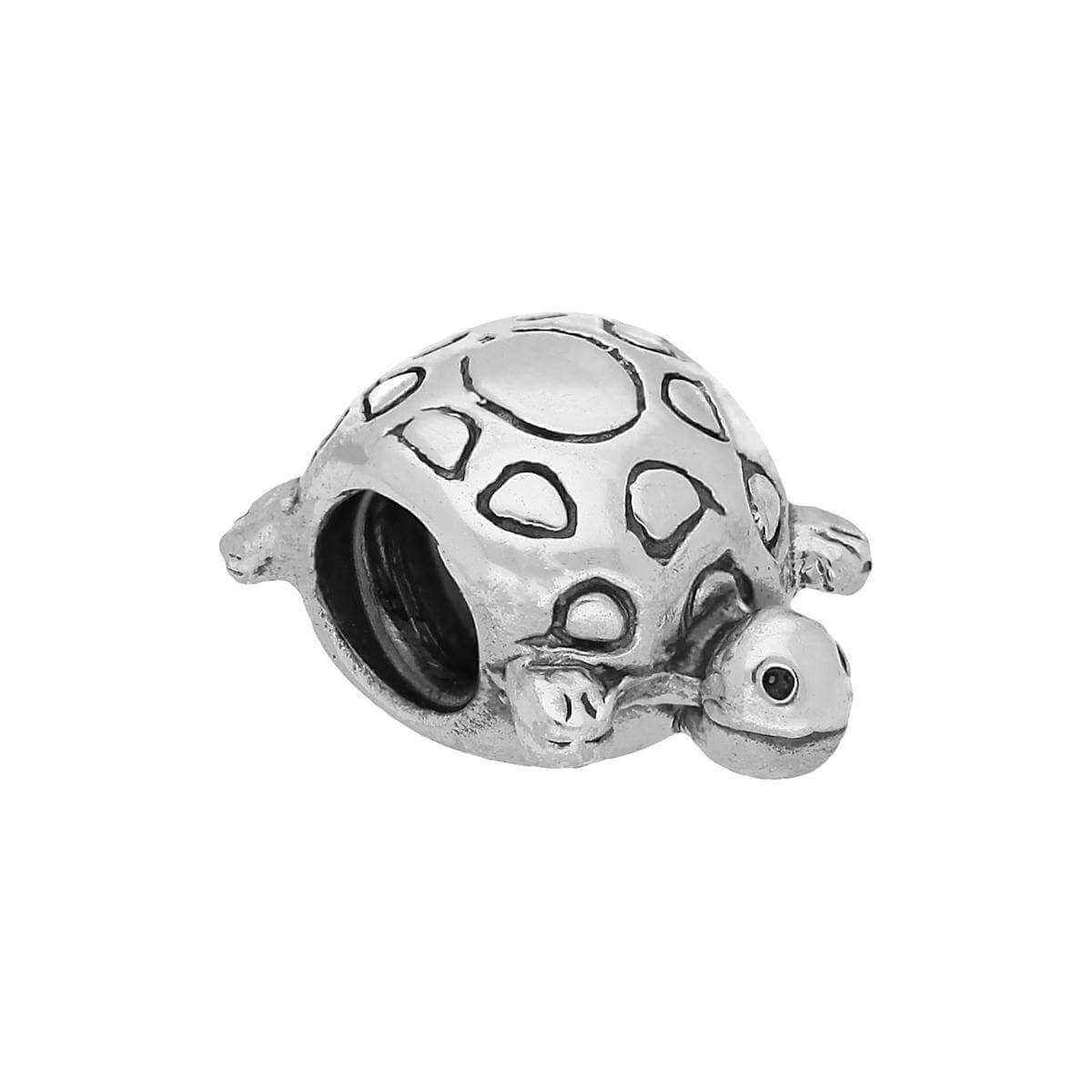 Sterling Silver Turtle Bead Charm