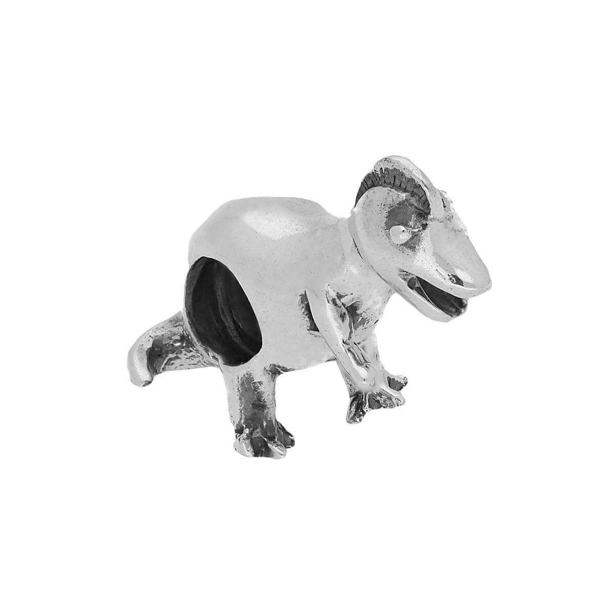 Sterling Silver Baby Dinosaur Bead Charm
