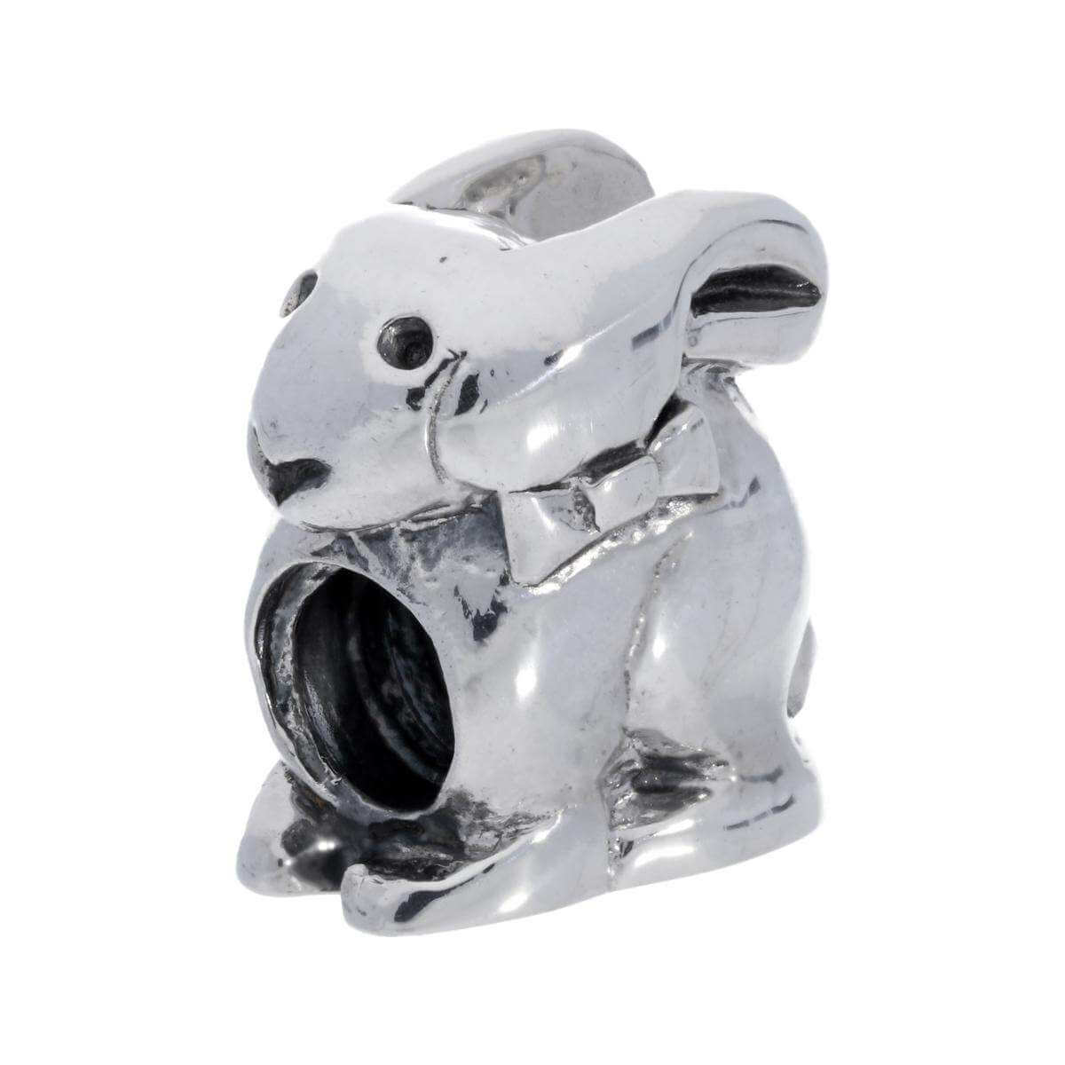 Sterling Silver Bunny Rabbit Bead Charm